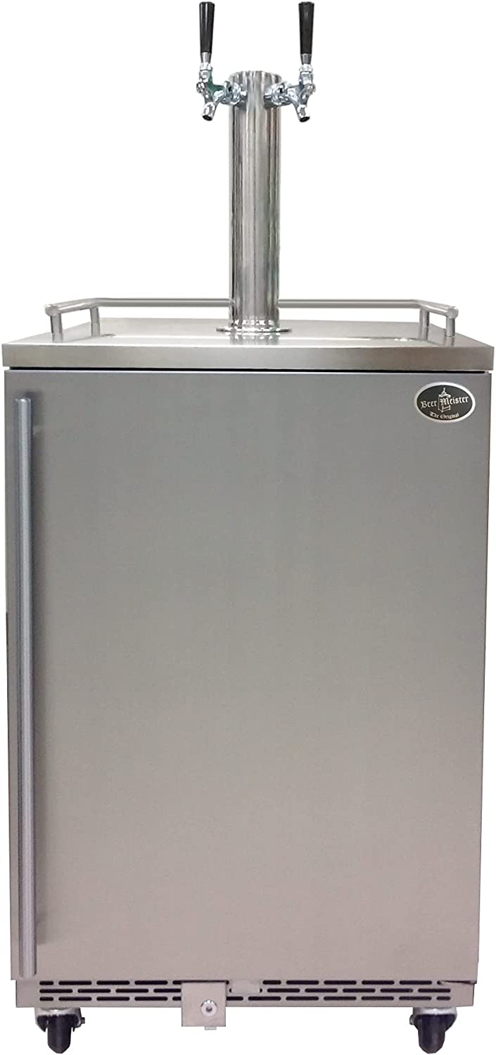 Beer Meister dual tower with - door At the price kegerator Cheap super special price stainless Premium