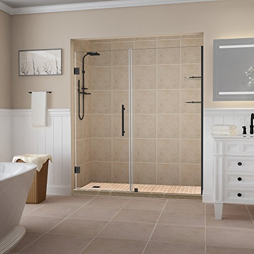Big Save! Aston SDR960EZ-MB-5424-10 Belmore GS Shower Door, Glass 24 in. Fixed Panel: 30 in, Matte B...