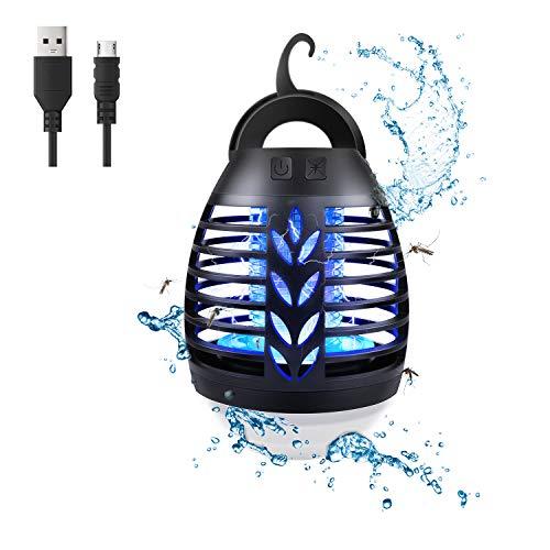 Lampada Antizanzare da Esterno, Repellente Elettrica per Zanzare da Campeggio, Lampada Portatile con Zanzara 2 in 1 Lampada a LED