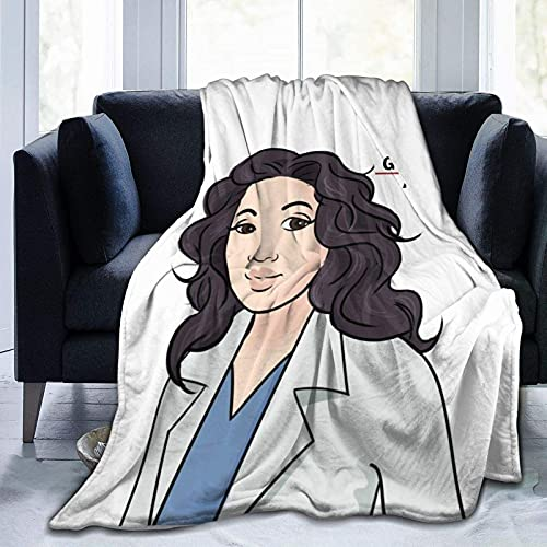 Grey's Anatomy Cristina Yang GA Manta de franela ultra suave manta de forro polar de microfibra duradera decoración del hogar perfecta para sofá cama 152 x 127 cm