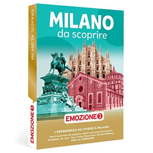 Emozione3 - Milano da Scoprire - Cofanetto Regalo per Uomo o Donna, 1 Esperienza a Milano per 1 o 2 Persone, Idee Regalo Originale