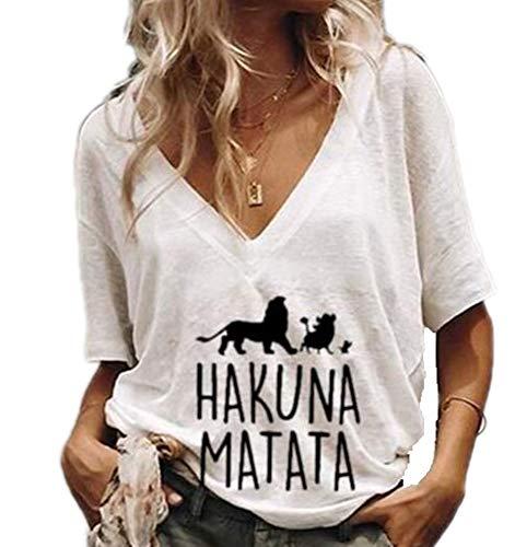 Camisetas Divertidas Mujeres León Camisa bendecida con gráficos Divertidos inspiradores Camisetas de niñas Adolescentes Tops
