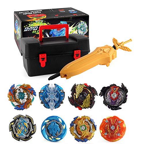 Suiyue Tech. Trottole da Combattimento - Beyblade Burst - Giocattoli educativi - 1 Set Beyblade Gyro Toy Kids (8 Trottole + 17 Accessori Speciali)