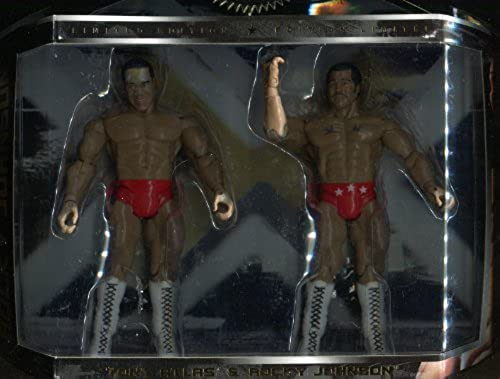 Jakks Pacific WWE Classic Super Stars  Limited Edition  Tony Atlas & Rocky Johnson  JAKKS 2008