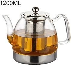 Bredemeijer 1200ml Tetera de cristal 800//1200 ml, con filtro de acero inoxidable extra/íble, vidrio de borosilicato Ein