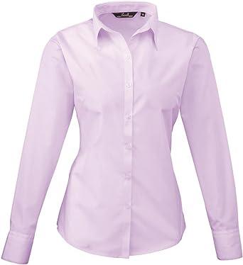 Premier Camisa formal de popelina de manga larga para mujer ...