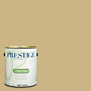 Prestige Paints P400-T-SW6408 Interior Paint and Primer in One, 1-Gallon, Satin, Comparable Match of Sherwin Williams Wheat Grass, 1 Gallon,
