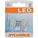 SYLVANIA 921LED.BP2 ZEVO T-16 W16W White LED Bulb, (Contains 2...