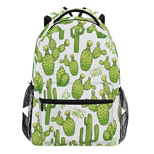 Oarencol Rucksack für Sukkulenten, Kaktus, Tropische Dornen, Pflanzen, Büchertasche, Tagesrucksack, Reisen, Schule, Hochschul-Tasche, für Damen, Herren, Mädchen und Jungen
