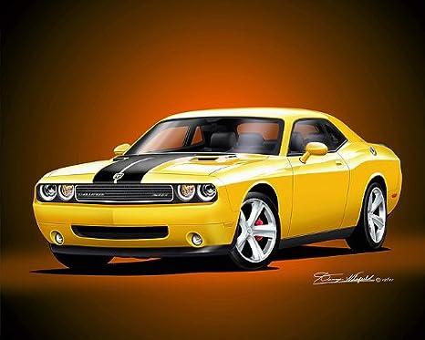 2010 Dodge Challenger SRT8 CARS5373 Art Poster Print A4 A3 A2 A1