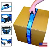 Strap-A-Handle Standard | 6' Standard Easy Carry Strap with Handle for Safely Lifting Heavy Boxes, Groceries, Luggage, Beach, Skiing, Camping, Moving (Strap-A-Handle 6ft. 40lbs. Max)