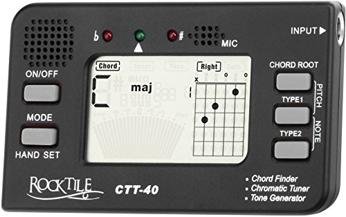 Rocktile CTT-40 Accordatore,Trovaaccordi, Tone Generatore