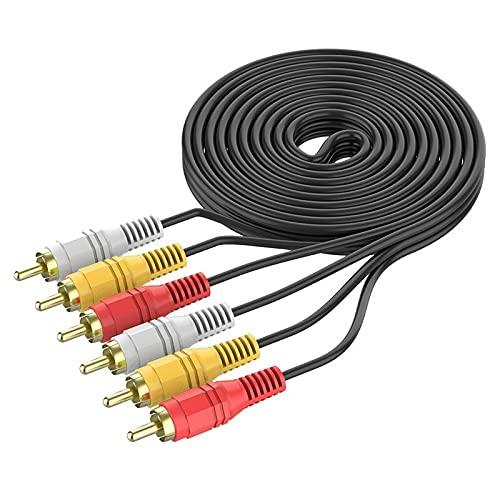 YXXJJ Cavo Audio 3.RCA.Maschio a.3rca.Cavo Video Audio Maschio RCA.Cavo Splitter 1.5m 3m 5m.for Dvd Sound TV Box. Trasmissione Comoda e Pratica, Senza perdite (Length : 3m)