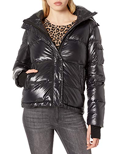 Womens Black Short Puffer Jacket