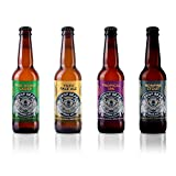 Drop Bear Beer, Award Winning Alcohol-Free Beer, 4 Bottle Core Range Mixed Pack, Non Alcoholic Beer , Vegan, Gluten-Free, Low Calorie, Gift Set