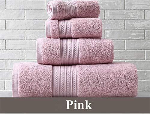 Heliansheng Toalla de baño de algodón Puro Toalla de baño súper Absorbente Juego de Toallas de baño Grandes y Gruesas para Adultos -Pink-33x33cm