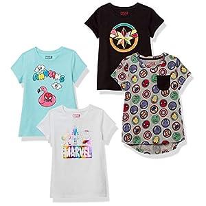Spotted Zebra Disney Star Wars Marvel Frozen Princess-Camiseta de Manga Corta Niñas 6