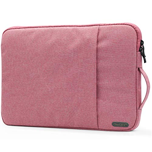 OneGET Laptop Sleeve for 13 Inch MacBook Air MacBook Pro Internal Fluff Laptop Bag with Accessory Pocket, Protective Carrying Case Cover for 13' Lenovo Dell Hp Asus Acer Chromebook(13-13.3Inch, Pink)