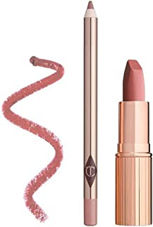 Exclusive New Charlotte Tilbury LUSCIOUS LIP SLICK PILLOW TALK Lip kit in the best-selling nude shade