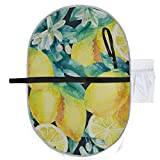Acuarela Lemon Fruit Branch Leaves Flowers Cute Changing Pad Girl Portable Changing Pad 27x10 Inch Impermeable Plegable Mat Baby Portable Changing Station Pad cambiador infantil