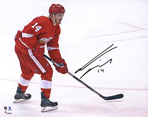 "Gustav Nyquist Detroit Red Wings Autographed Red Jersey Skating 8"" x 10"" Photograph - Fanatics Authentic Certified"