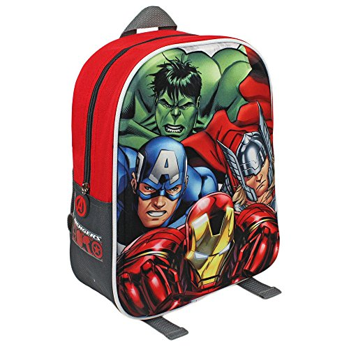 Marvel Avengers Sac à Dos junior 3D de 31 cm avec Iron Man / Captain America / Thor et Hulk