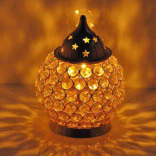 Hashcart Magische Meditations-Öllampe aus Messing von Handicrafts, Diya-Messinglampe, Puja-Lampen.