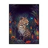 BGFZYD Tier Leopard Poster, Dschungel Wildlife Gepard