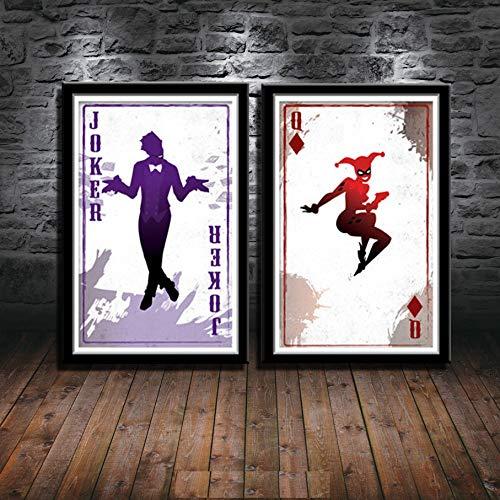 51pm1Q4kieL Harley Quinn Canvas Wall Art