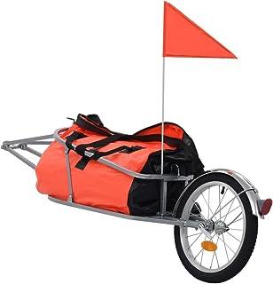 comprar comparacion vidaXL Remolque Bicicleta Carga Bolsa Impermeable 1 Bandera + 2 Reflectores Carrito Transporte Equipaje Bici Bastidor Acer...