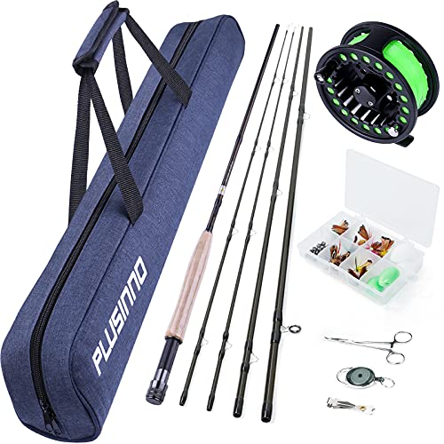PLUSINNO Fly Fishing Rod and Reel Combo