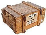 Caja de transporte Natural bruto Almacenamiento pecho ca 78x59x41cm peso aprox. 25kg Pecho de militar Munitionsbox Caja de madera Caja de Madera Caja de vino Cajón de manzana Shabby Vintage