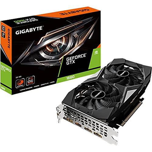 Gigabyte Technology GV-N1660 VGA, GV-N1660-OC-6GD, Negro/ Plata
