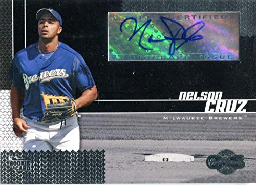 Nelson Cruz Autographed 2006 Topps Certified Rookie Card - Baseball Slabbed Autographed Cards