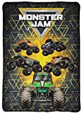 Monster Jam MJ Life Blanket - Measures 62 x 90 inches, Kids Bedding Features Grave Digger - Fade Resistant Super Soft Fleece (Official Monster Jam Product)