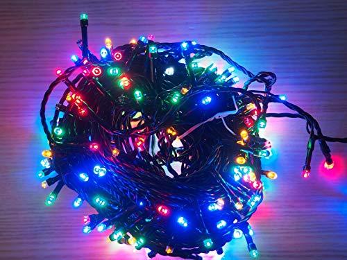 Couleurs - Guirlande lumineuse extérieure 17m, 240 LED multicolores et blanc flash