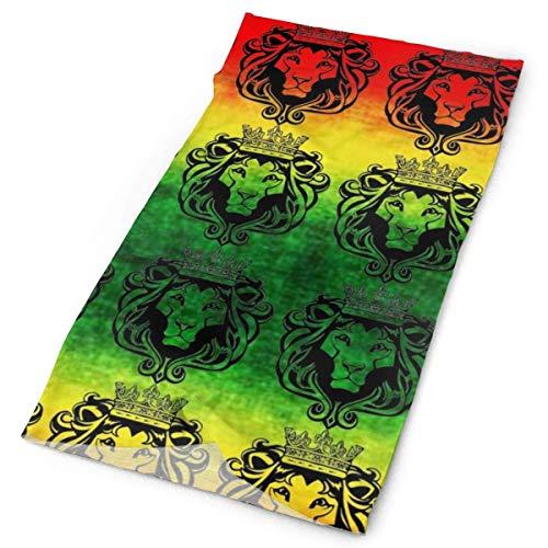 huatongxin Unisex Stylish Rasta Lion Cool Quick Dry Microfiber Headwear Outdoor Magic Bandana As Polaina del cuello Head Wrap Scarf Face Ultra Soft Elastic One Size