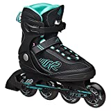 K2 Skate Women's Kinetic 80 Inline Skates, Black, 10.5