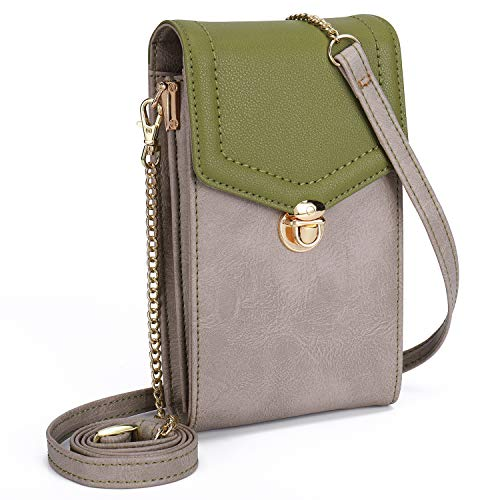 seOSTO Crossbody Bag for Women,Cell Phone Bag Purse Travel Passport Bag RFID Blocking with Card Slots