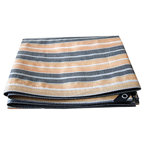 PanYFDD Striped Polyethylene Tarpaulin Waterproof Sunscreen Anti-aging Canopy Carport Tent Shed Cloth roof, camping (Color : Stripe, Size : 8 x 8m)