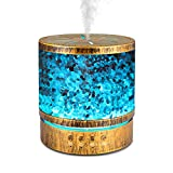 Sheoolor 400ml Essential Oil Diffuser for Large Room 20 Hours, Himalayan Salt Lamp Diffuser with 7 Color Changing Lights, Aromatherapy Diffuser with 2 Timers and Waterless Auto-Off for Home Office