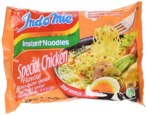 Indomie Instant Noodle Soup Special Chicken Flavor Halal (Pack of 30)