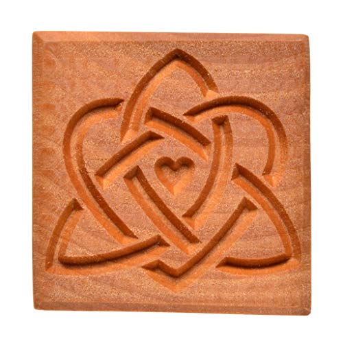MKM Pottery Tools Stamps 4 Clay Large Square Decorative Stamp for Clay (Ssl-74 Celtic Sisters)