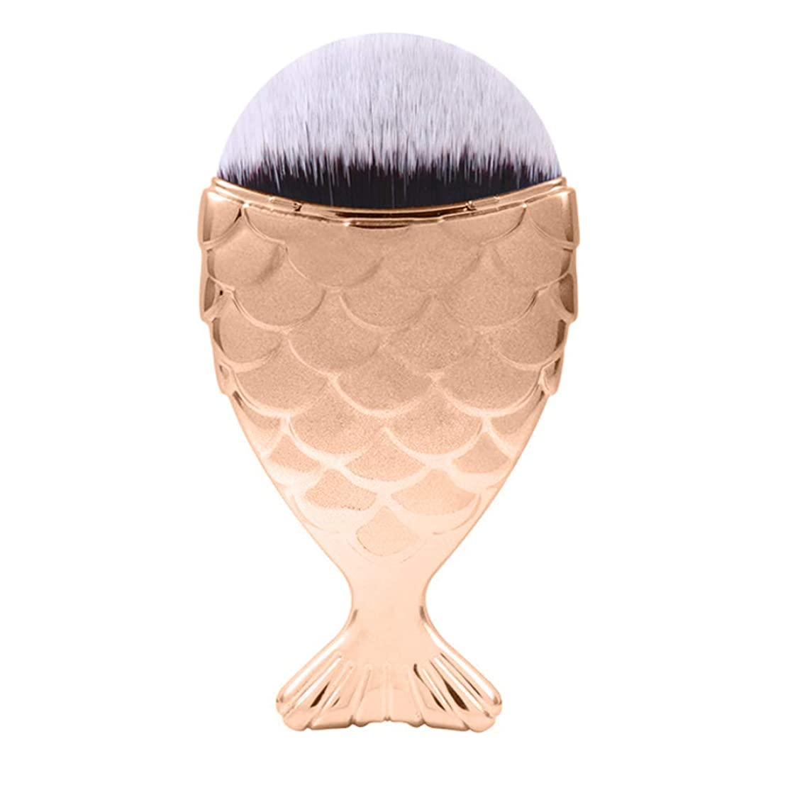 ありふれた納税者貝殻JFYJP 4PCS メイクブラシ 化粧ブラシ フェイスブラシ ブラシ 化粧筆 (Color : イエロー, Size : One Size)