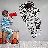 yaonuli Space Astronaut Wall Sticker Dormitorio Astronaut Astronaut Wall Sticker Vinilo Decoración del hogar 59X73cm