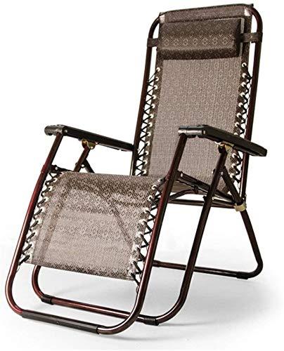 Utomhus lounge stolar solstolar, Trädgård Liggande Solstol Lounger Folding Beach Sun Lounger Recliner stolar i brun väderbeständig textolin för uteplats eller strand, balkong, park eller campingplats