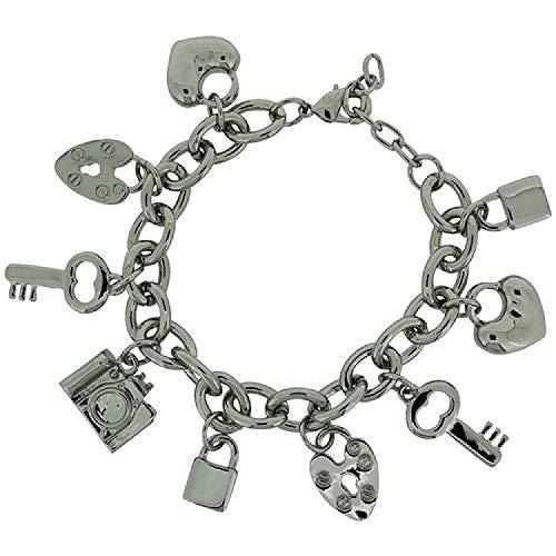 ADORN FJ1019 Bettelarmband Tiffany Style mit Liebesherzen in Geschenkschatulle