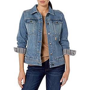 Women`s Liverpool Jean Co POWER FLEX Size 2X Stretch Black Denim Jacket NWT