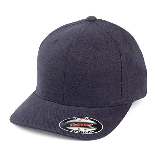 Village Hats Casquette en Coton Sergé Brossé Mid-Pro Bleu Marine Flexfit - Large/X-Large
