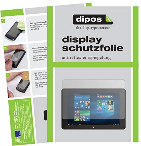 dipos I 2X Schutzfolie matt kompatibel mit TrekStor SurfTab Duo W1 Volks-Tablet Folie Bildschirmschutzfolie